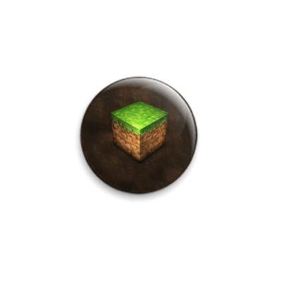 Значок 25мм Minecraft Grass Block