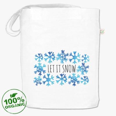 Сумка Let it snow/ снежинки