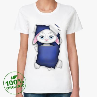 Женская футболка из органик-хлопка Зайчонок