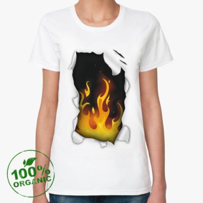 Женская футболка из органик-хлопка Языки
