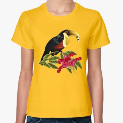 Женская футболка Красивая птица