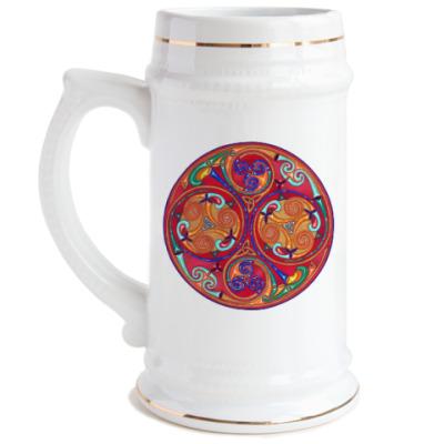 Пивная кружка Трискелион