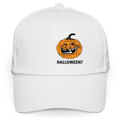 Кепка бейсболка Trollface -Halloween