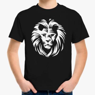 Детская футболка Лев - царь зверей
