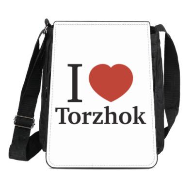Сумка-планшет Я люблю Торжок