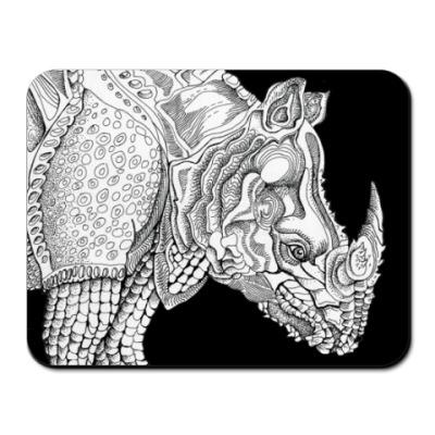 Коврик для мыши носорог