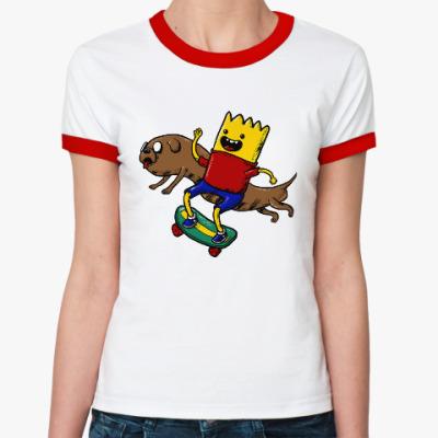 Женская футболка Ringer-T Время приключений