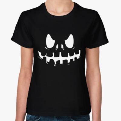 Женская футболка Хэллоуин Зомби