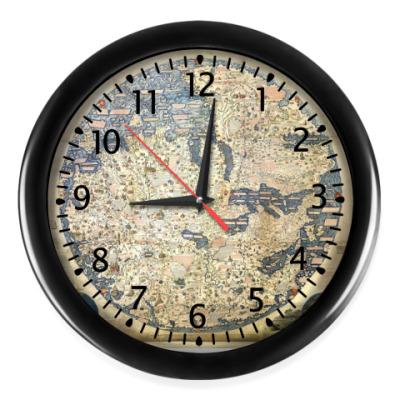 Настенные часы Древняя карта
