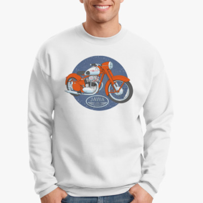 Свитшот Ретро Мотоцикл Ява