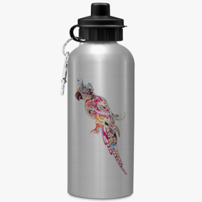 Спортивная бутылка/фляжка Попугай