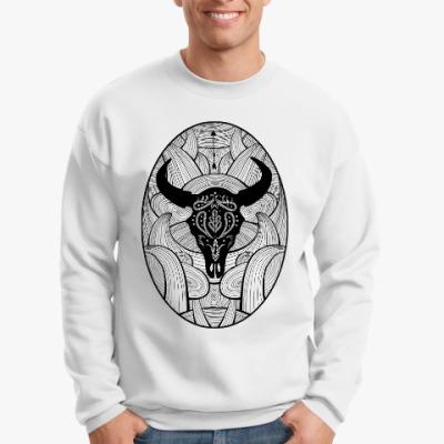 Свитшот Мексиканский череп быка