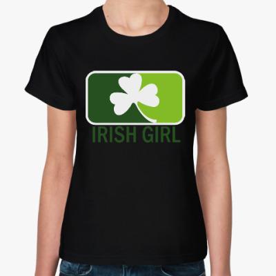 Женская футболка Клевер