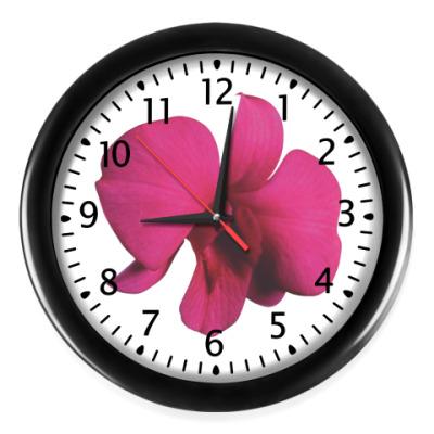 Настенные часы Розовая лилия