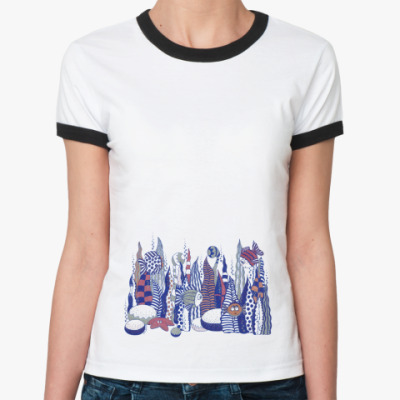Женская футболка Ringer-T рыбки
