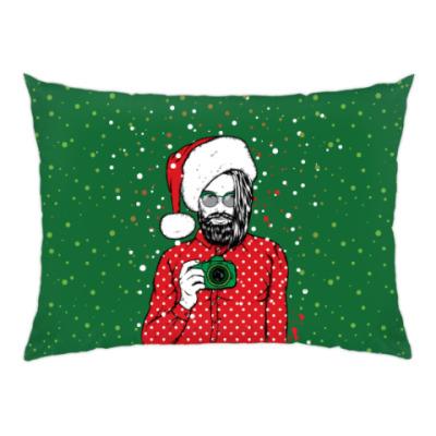 Подушка Санта Хипстер