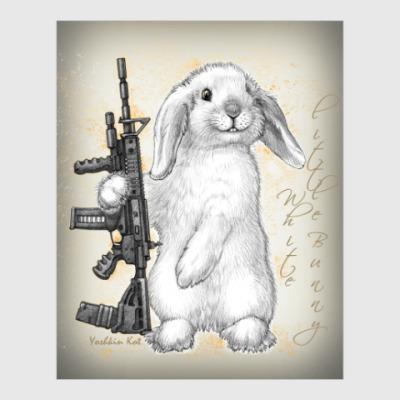 Постер White little Bunny
