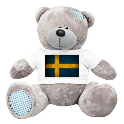 Плюшевый мишка Тедди Шведский флаг