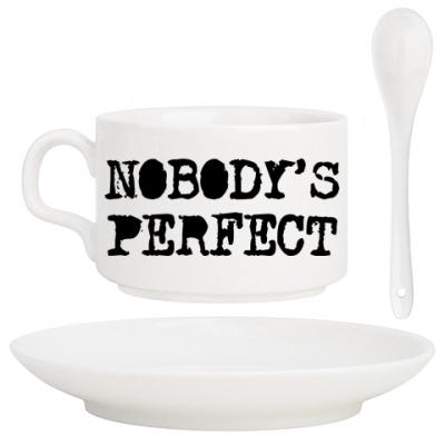 Кофейный набор Надпись Nobody's perfect