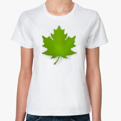Классическая футболка Кленовый лист