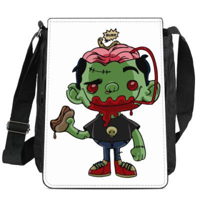 Сумка-планшет Если бы у зомби был мозг.