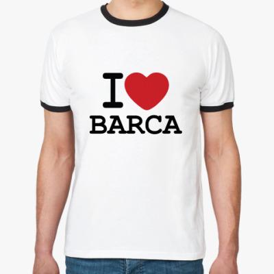 Футболка Ringer-T I Love Barca