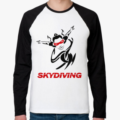Футболка реглан с длинным рукавом SKYDIVING