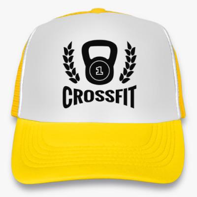Кепка-тракер Кроссфит логотип с гирей