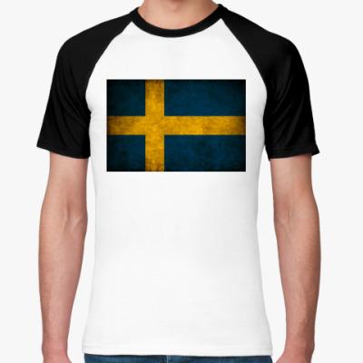 Футболка реглан  'Шведский флаг'