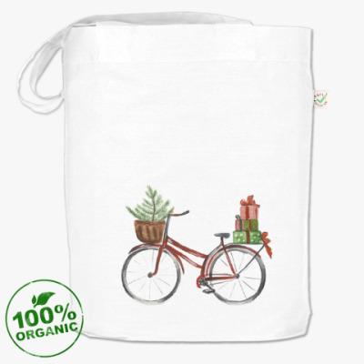 Сумка Красный рождественский велосипед