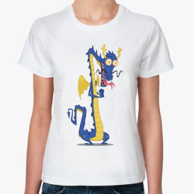 Классическая футболка Восточный дракон