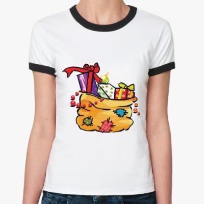 Женская футболка Ringer-T Лучший твой подарочек - это Я