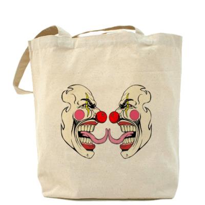 "Сумка Холщовая сумка ""Клоуны"""