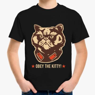 Детская футболка Obey the Kitty!
