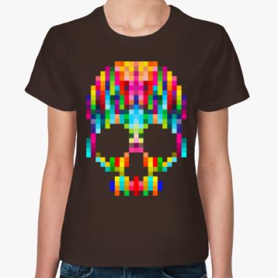 Женская футболка Pixel Skull