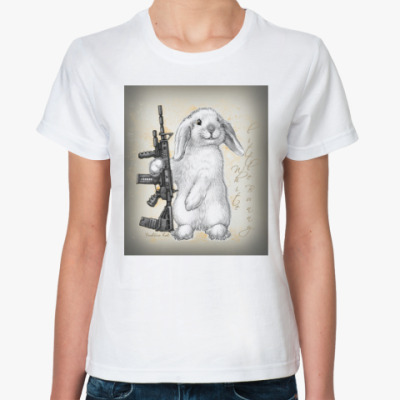 Классическая футболка White little Bunny