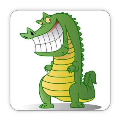 Костер (подставка под кружку) Злобный крокодил