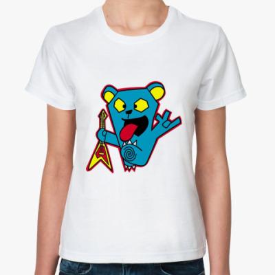 Классическая футболка  Bear rocker