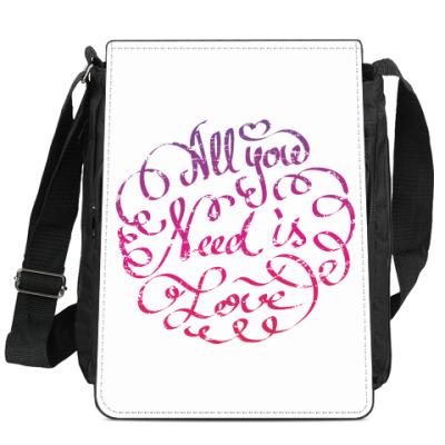 Сумка-планшет All you need is love