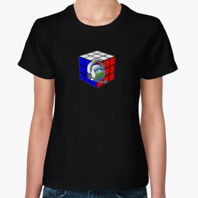 Женская футболка ТАЙНА СИНХРОННОГО ПЕРЕВОДА