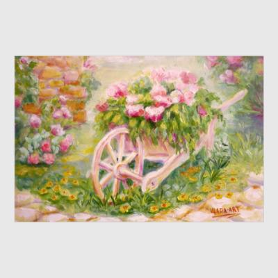 Постер Тележка с цветами
