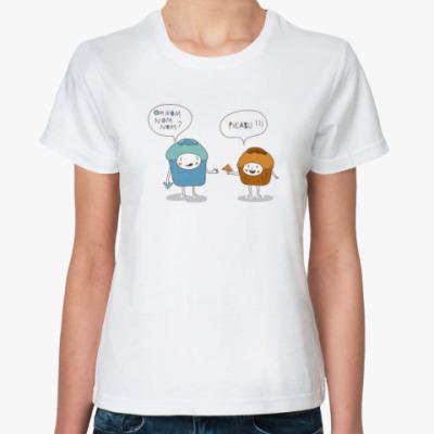 Классическая футболка Женская OM NOM NOM?