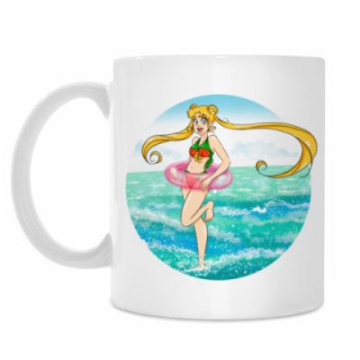 Кружка Лето, море и солнце Sailor moon