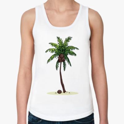 Женская майка Кокосовая пальма