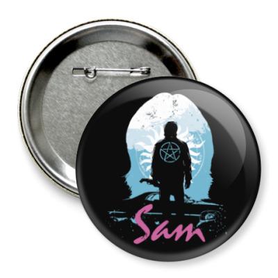 Значок 75мм Sam - Supernatural