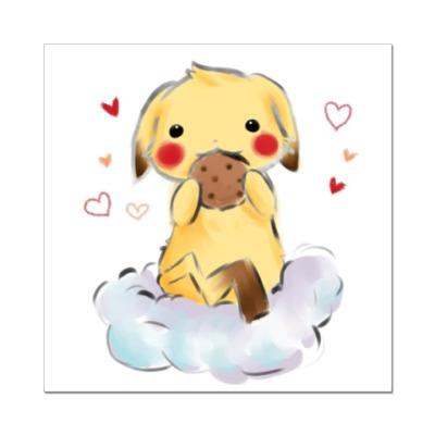 Наклейка (стикер)  Pikachu Girl3