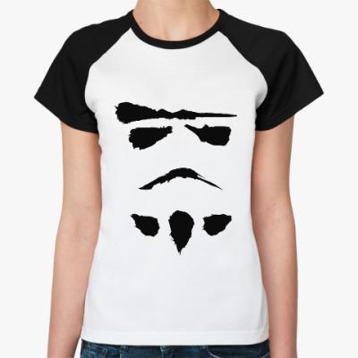 Женская футболка реглан минималистичный штурмовик