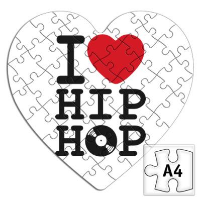 Пазл  сердце  I Love Hip Hop