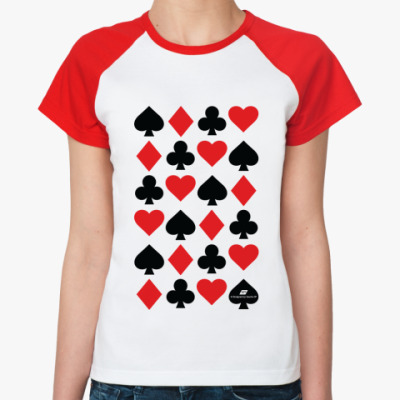 Женская футболка реглан «Масти»