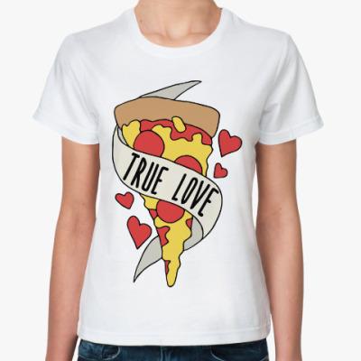 Классическая футболка Люблю Пиццу